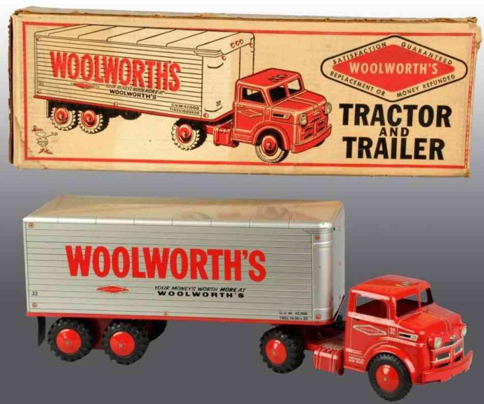Marx Louis Co. Lastwagen mit Anhänger LouisWoolworth