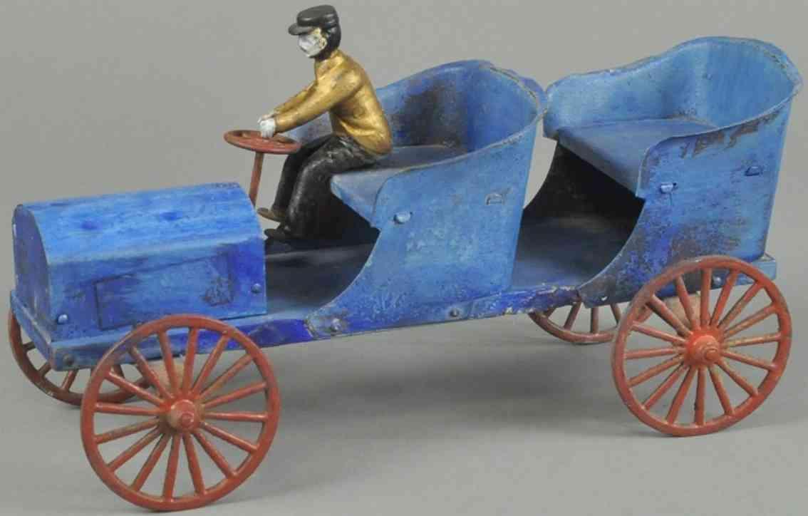 mason & parker blech holz spielzeug auto tourenwagen blau