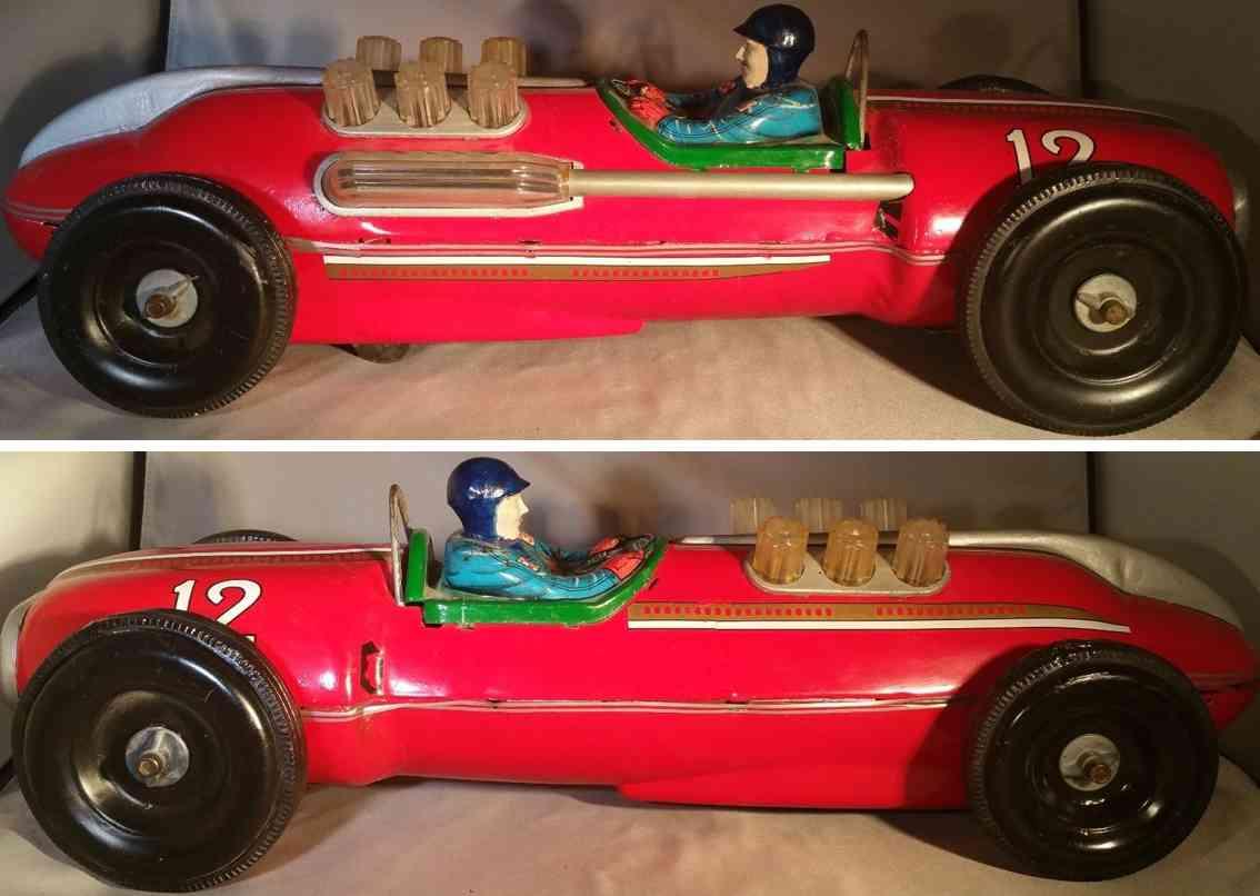 masudaya modern of toys 12 blech spielzeug rennauto baterriebetriebener rennwagen