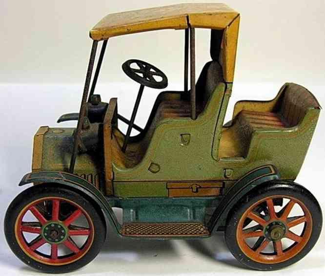 masudaya bike tin toy car carriage army bik