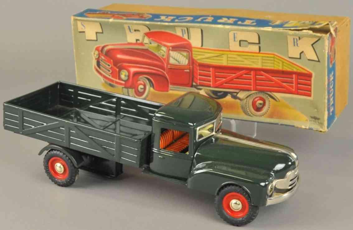 masudaya modern toys weissblech spielzeug pick-up lastwagen friktion
