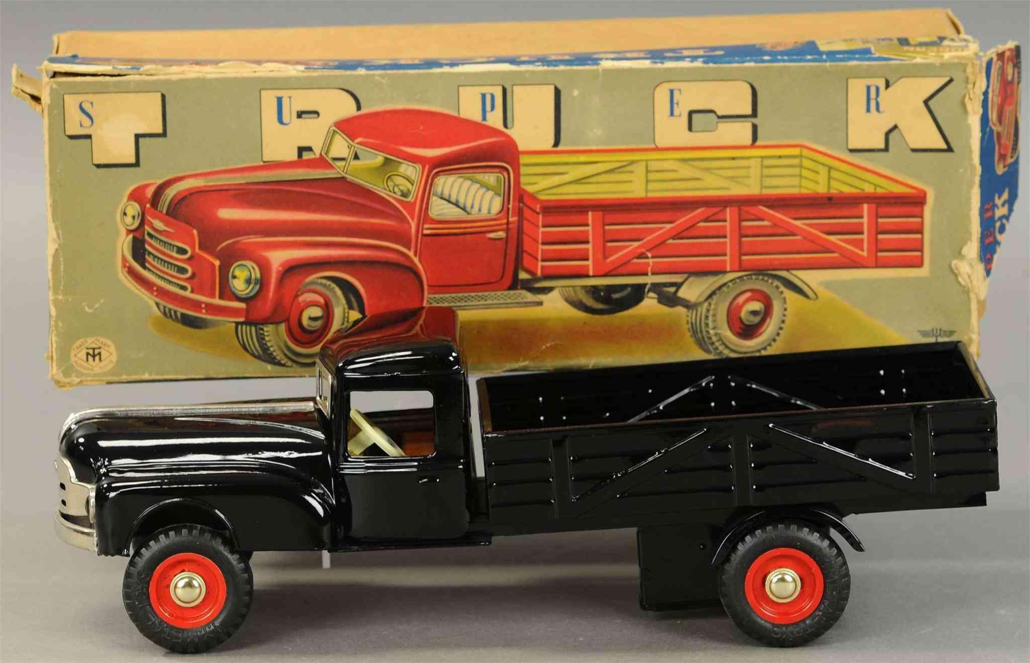 masudaya modern toys pick-up tin plate toy truck friction drive bkacj
