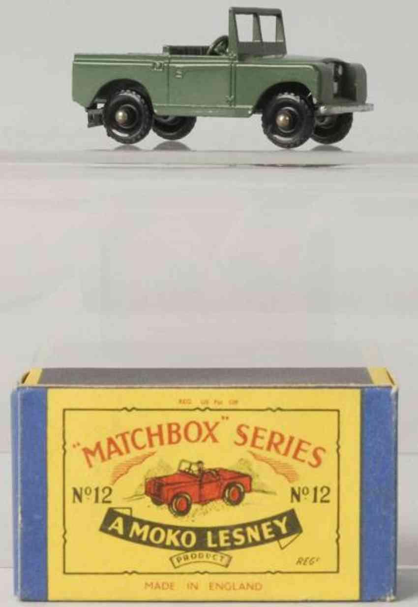 matchbox 12 druckguss landrover