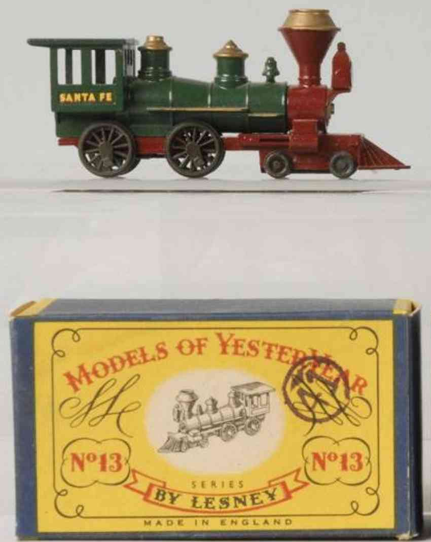 matchbox 13 druckguss  lokomotive santa fe