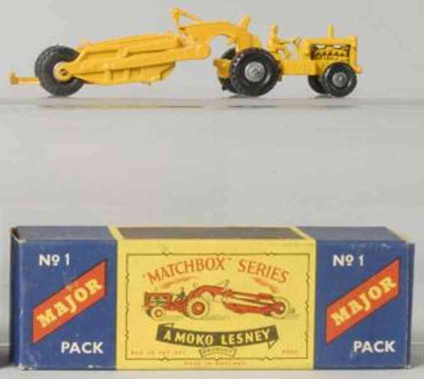 matchbox 1 druckguss traktor gelb