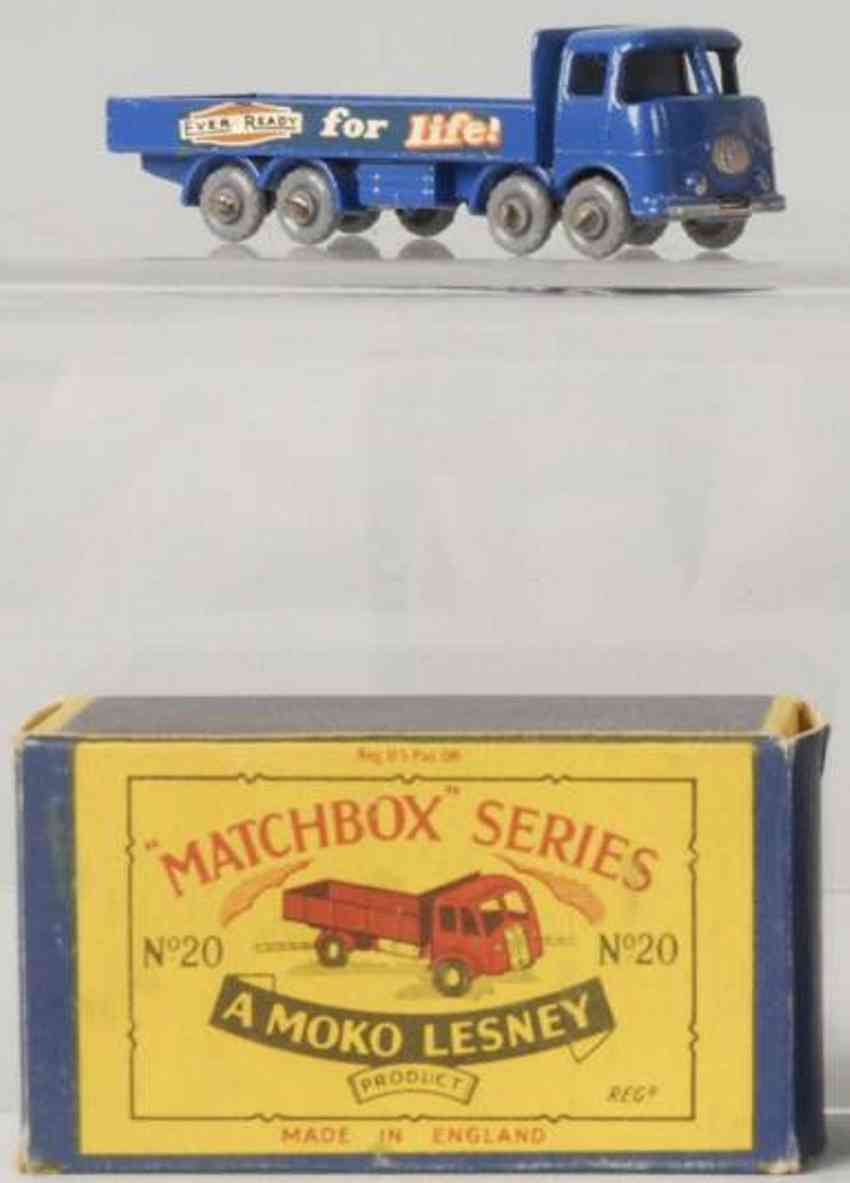 matchbox 20 erf 686 druckguss matchbox lastwagen blau