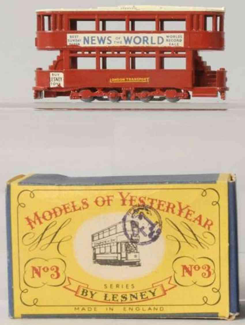 matchbox druckguss 3 e klasse strassenbahn rot models of yesteryear