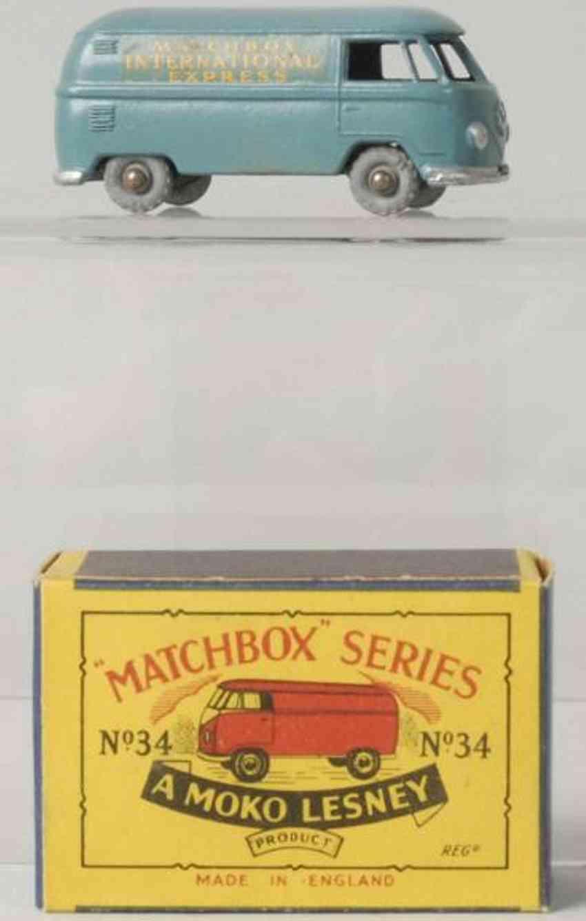 matchbox 34 druckguss volkswagen bus