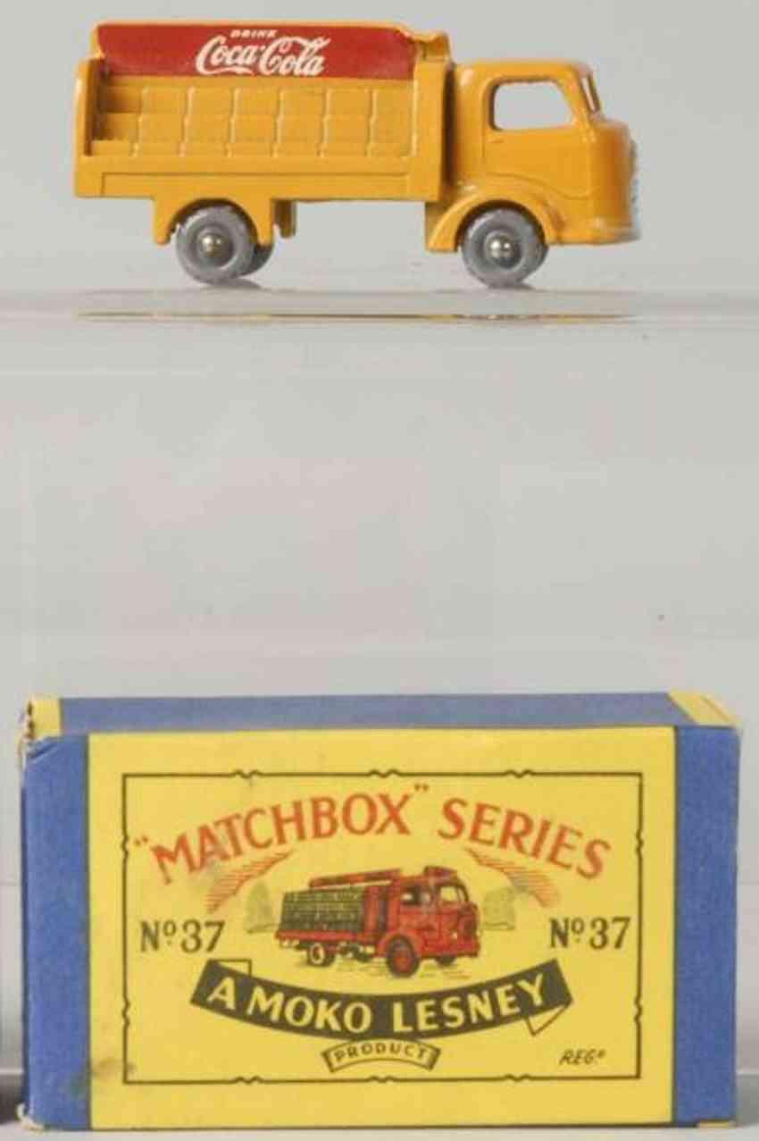 matchbox 37 druckguss coca-cola lieferwagen orange