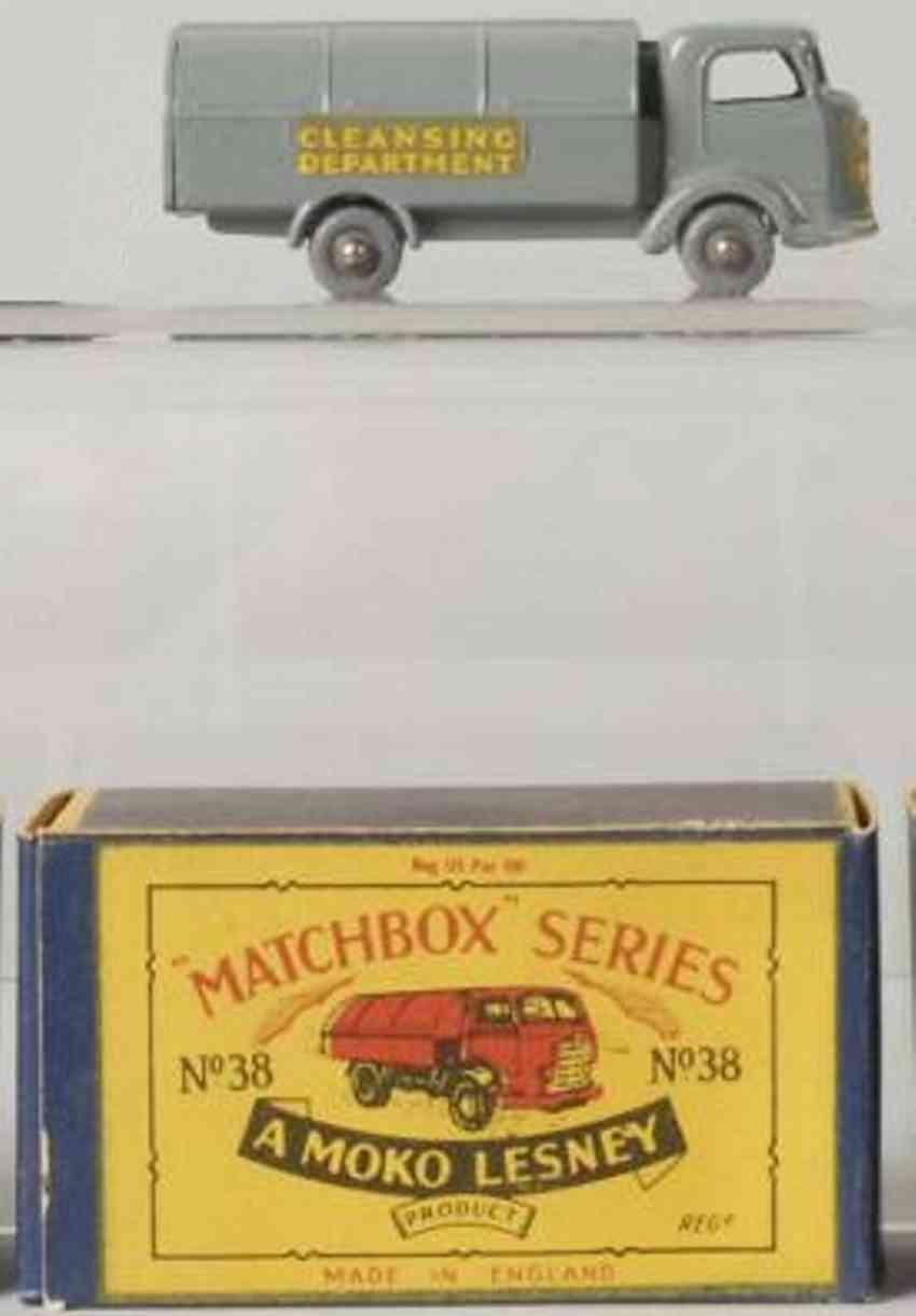 matchbox 38 druckguss abfallwagen