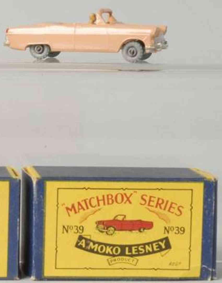 matchbox 39 druckguss ford zodiac cabrio fahrer