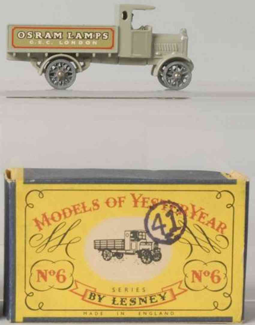 matchbox 6 diecast  a.e.c. y-type lorry