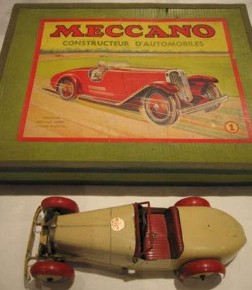 meccano erector 1 blech spielzeug baukastenauto baukastenauto mit uhrwerk