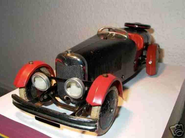 meccano erector blech spielzeug baukastenauto cabriolet grosses und massives baukastenauto aus blech mit u