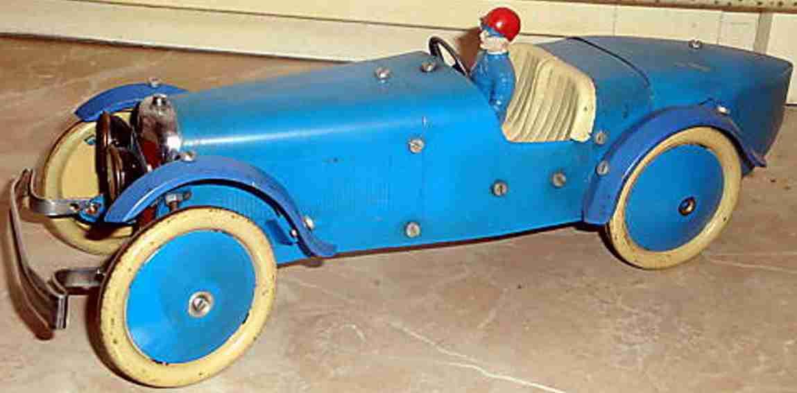 meccano erector blech spielzeug baukastenauto baukastenrennwagen mit uhrwerkantrieb und fahrerfigur
