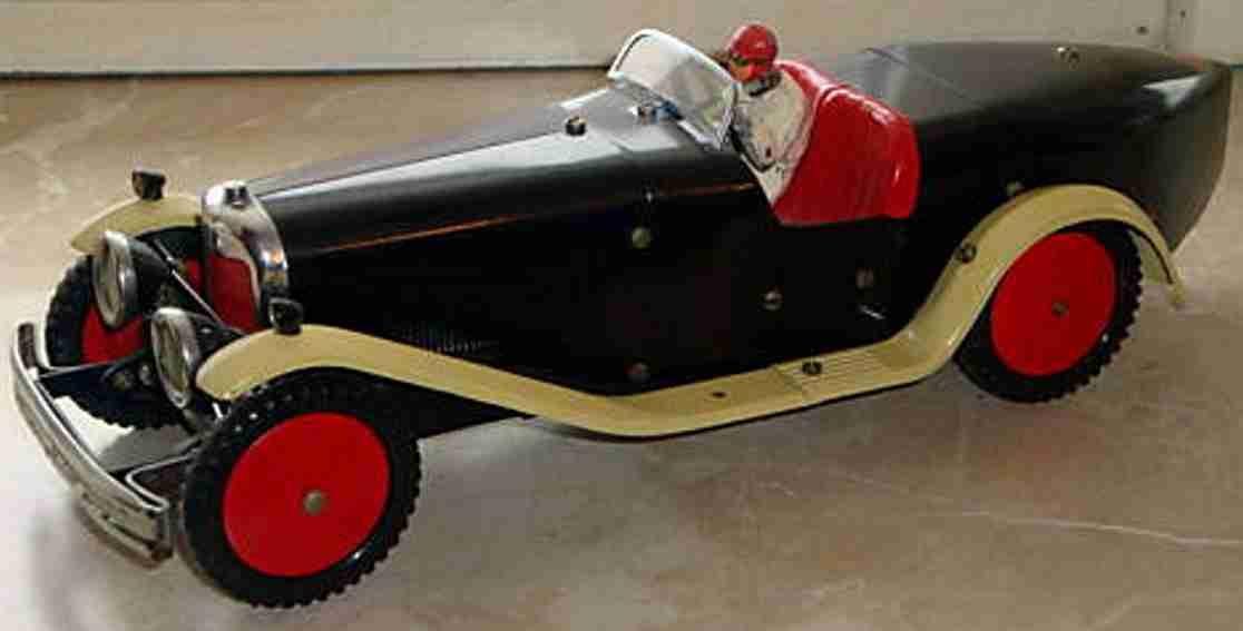 meccano erector blech spielzeug baukastenauto baukastenrennwagen mit uhrwerkantrieb und fahrerfigur aus bl