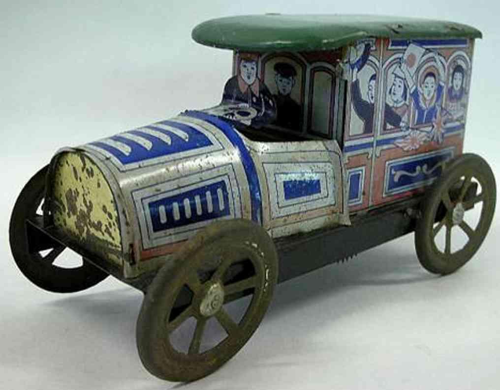 meiji 2 blech spielzeug auto auto aus lithografiertem blech