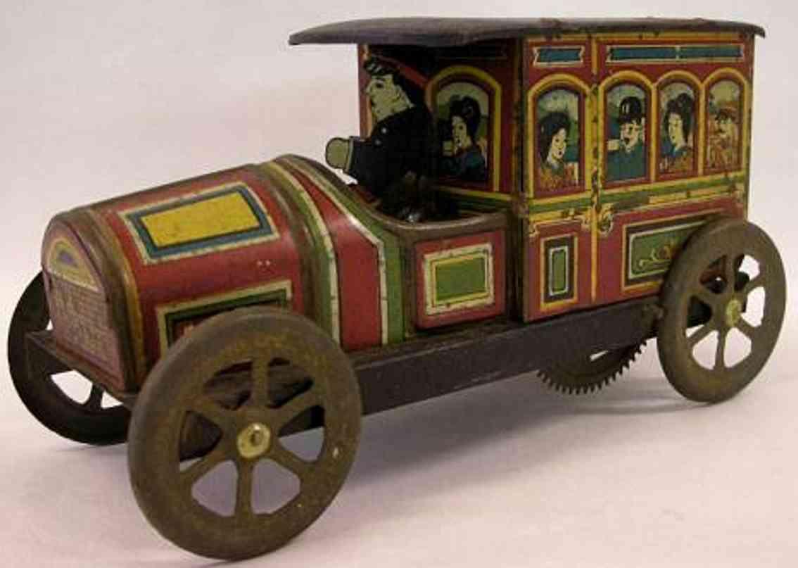 meiji blech spielzeug auto kaiserlicher taisho wagen aus lithografiertem blech