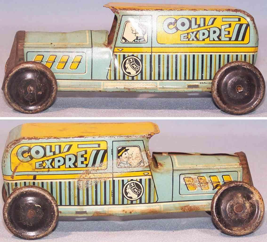 memo 704 tin toy tin truck colis express