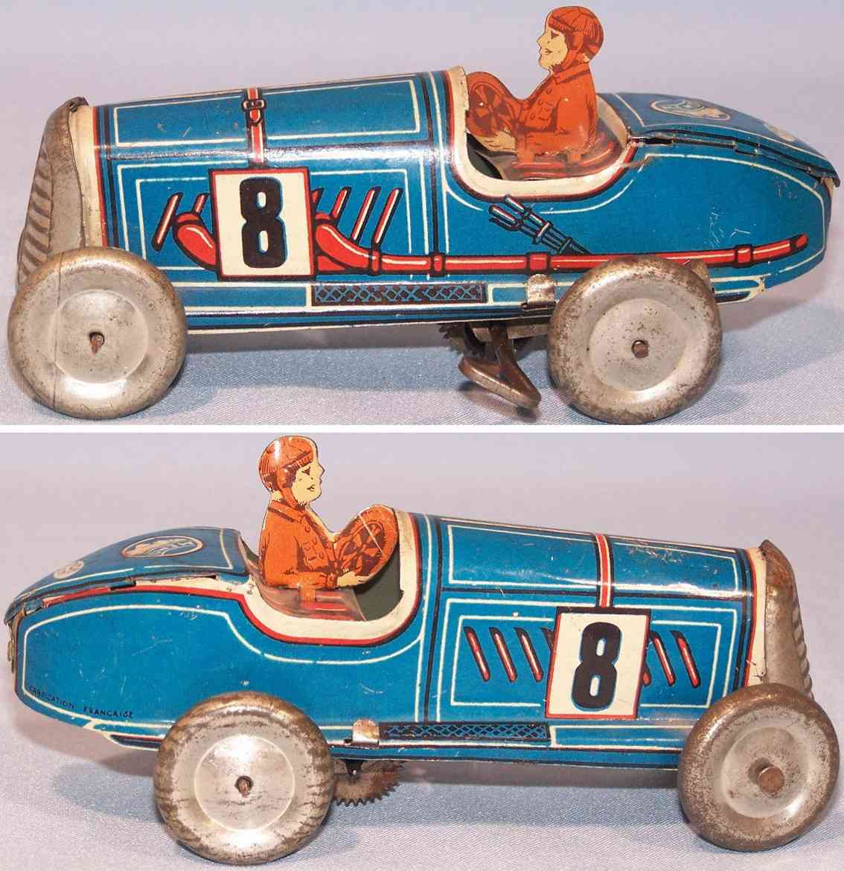 memo gutmann 708 tin toy race car clockwork blue