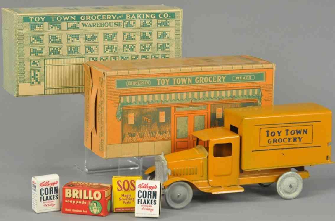 metalcraft corp st louis 181 blech spielzeug lastwagen stahlblech orange