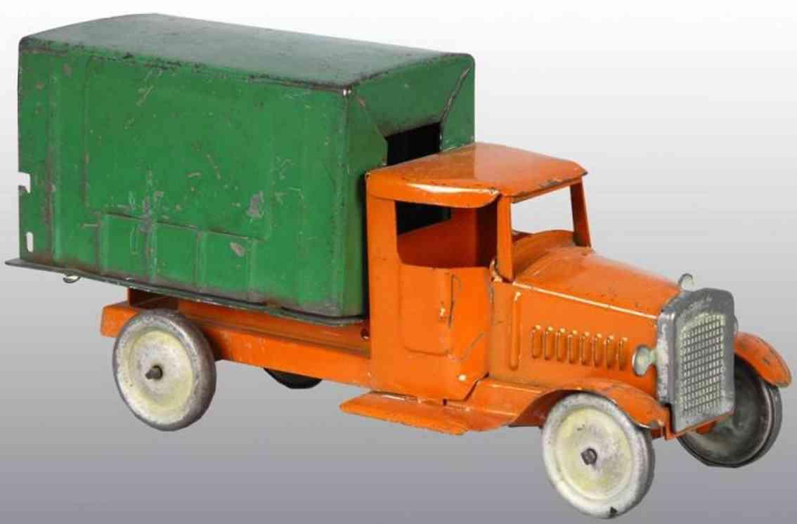 metalcraft corp st louis blech spielzeug lastwagen orange gruen
