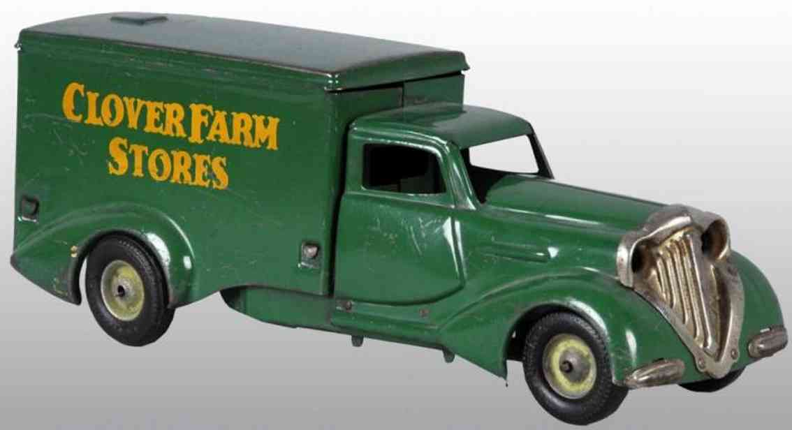 metalcraft corp st louis pressed steel toy clover farm stores truck green