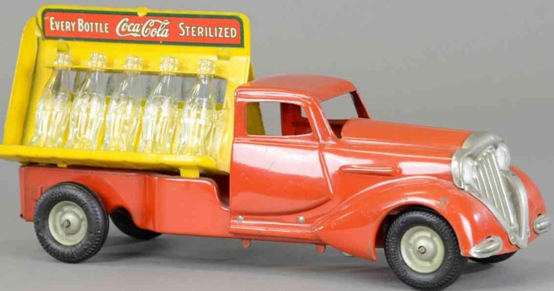metalcraft corp st louis spielzeug coca cola lieferwagen stahlblech dekostil a rahmen