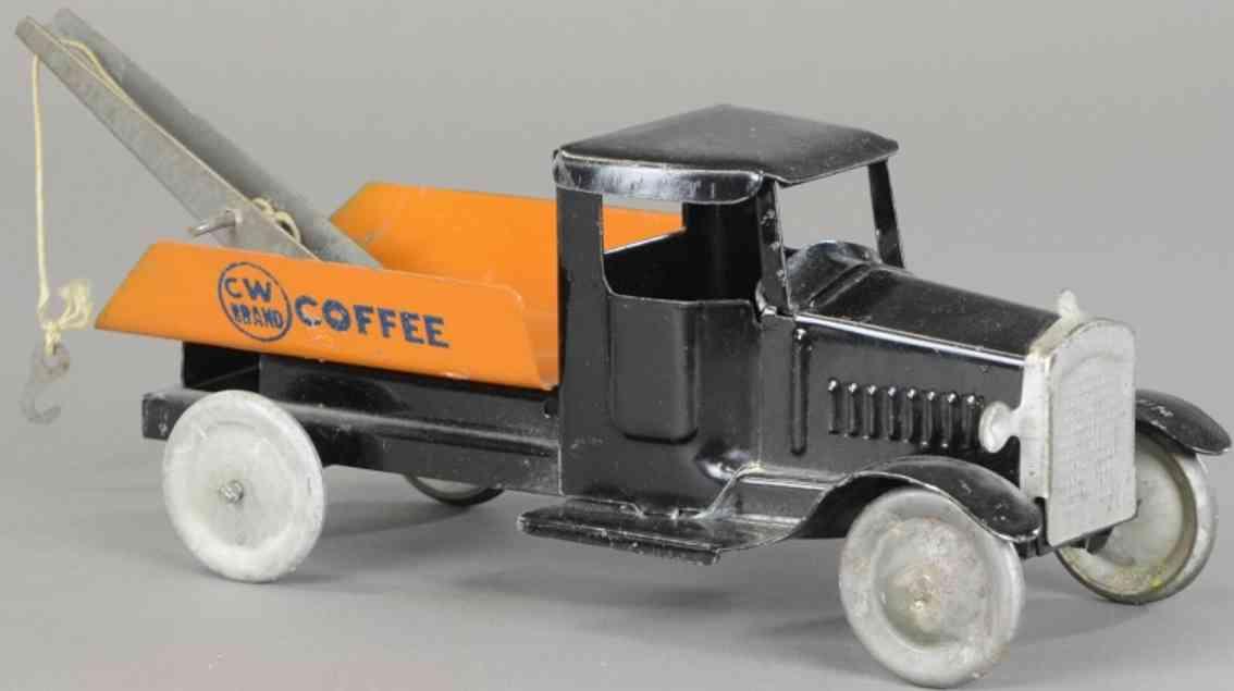metalcraft corp st louis stahlblech spielzeug abschleppwagen schwarz orange
