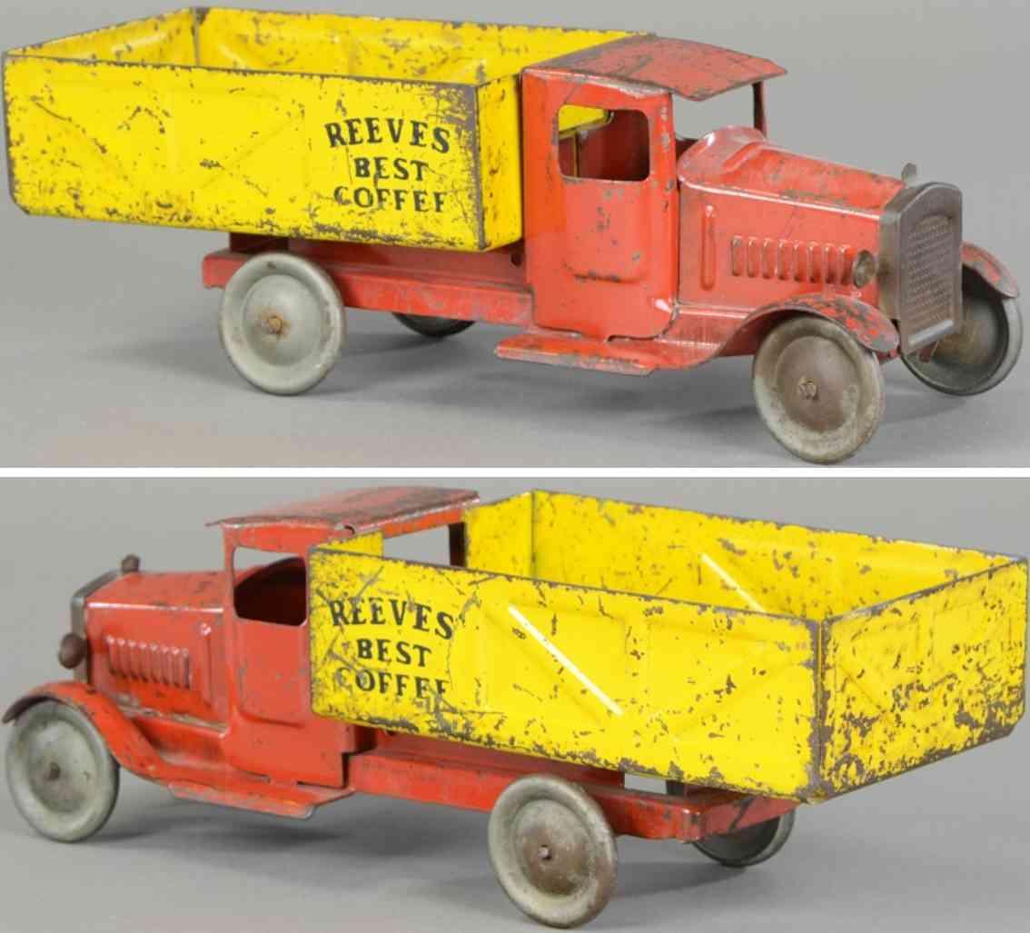 metalcraft corp st louis stahlblach spielzeug lastwagen rot gelb reeves best coffee