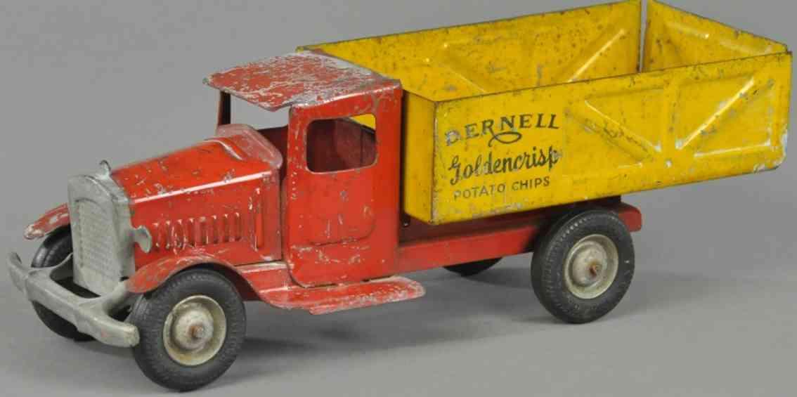 metalcraft corp st louis spielzeug lastwagen stahlblech rot gelb dernell potato chips