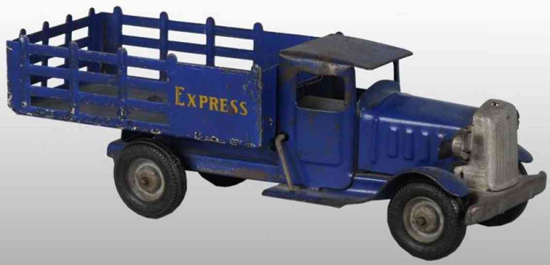 metalcraft corp st louis blech spielzeug lastwagen blau express
