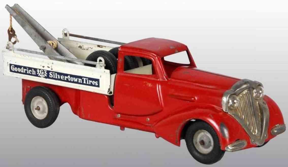 metalcraft corp st louis 182 blech spielzeug abschleppwagen rot