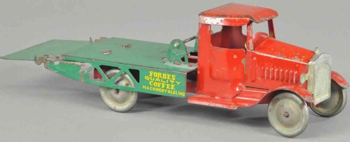 metalcraft corp st louis stahlblech spielzeug maschinen-speditionslastwagen forbes