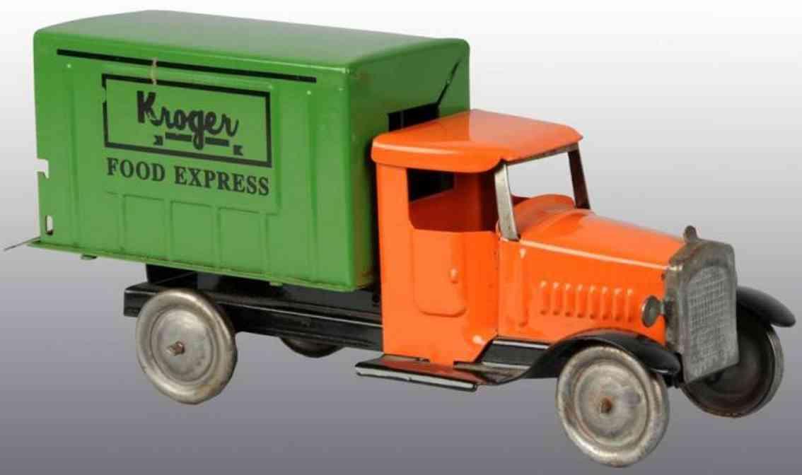 metalcraft corp st louis stahlblech spielzeug lastwagen kroger orange