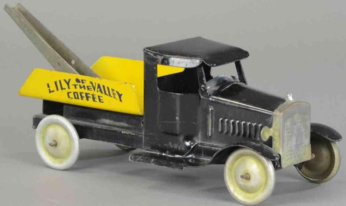 metalcraft corp st louis stahlblech spielzeug abschleppwagen  lily of the valley schwarz gelb