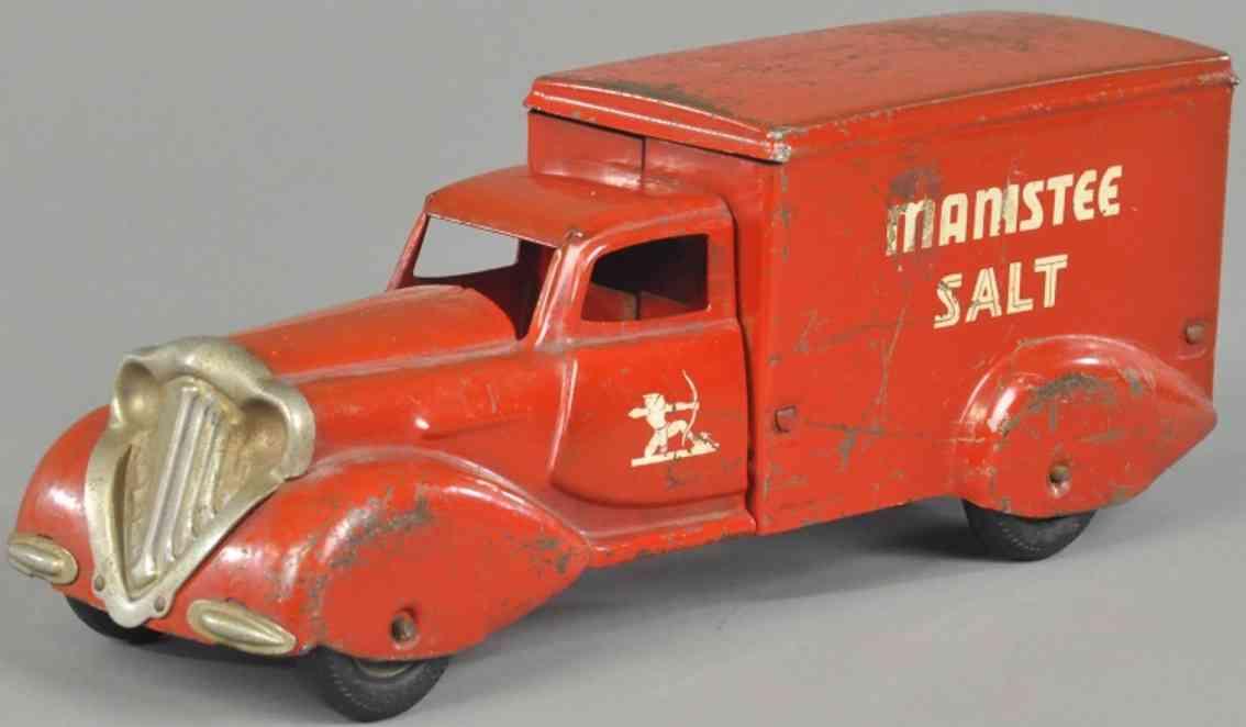 metalcraft corp st louis manistee salt spielzeug lieferwagen stahlblech rot