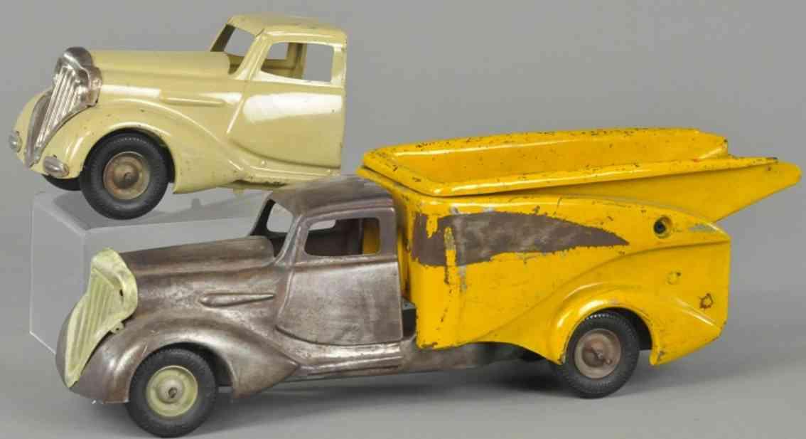 metalcraft corp st louis blech spielzeug kipplastwagen prototyp