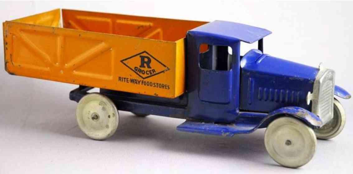 metalcraft corp st louis pressed steel toy truck rite-way groce