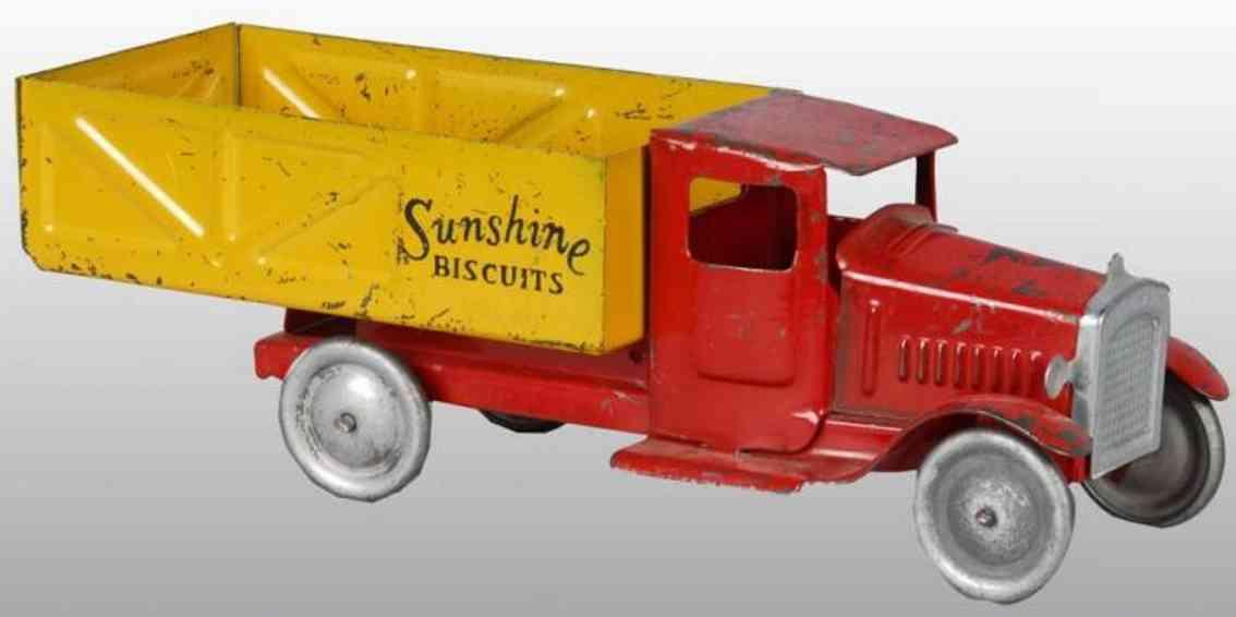 metalcraft corp st louis stahlblech pritschenwagen rot gelb sunshine biscuits