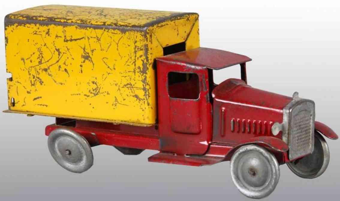 metalcraft corp st louis blech lieferkastenwagen rot gelb
