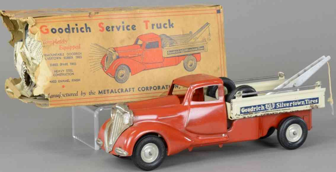 metalcraft corp st louis 182 wrecker pressed steel toy goodrich service truck