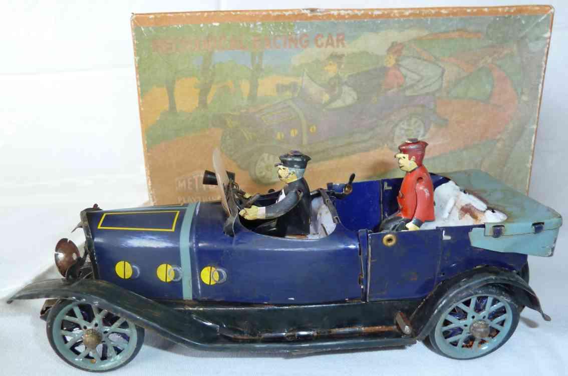 mettoy 1053 blech auto oldtimer offene limousine fahrer