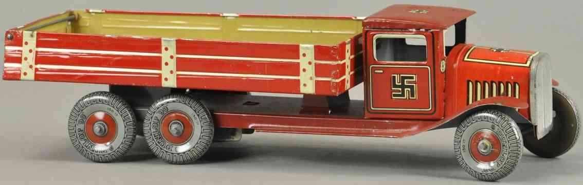 mettoy blech spielzeug lastwagen nazi zeichen