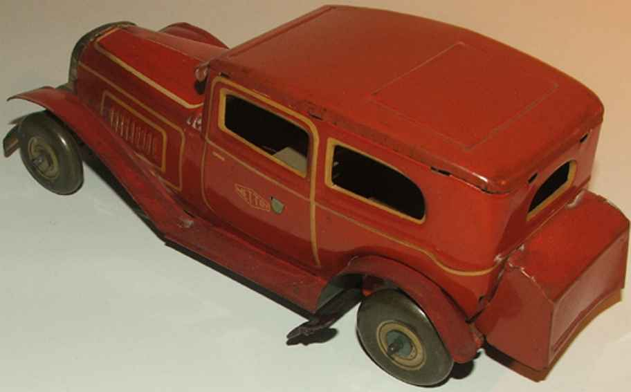 mettoy blech spielzeug auto oldtimer rot