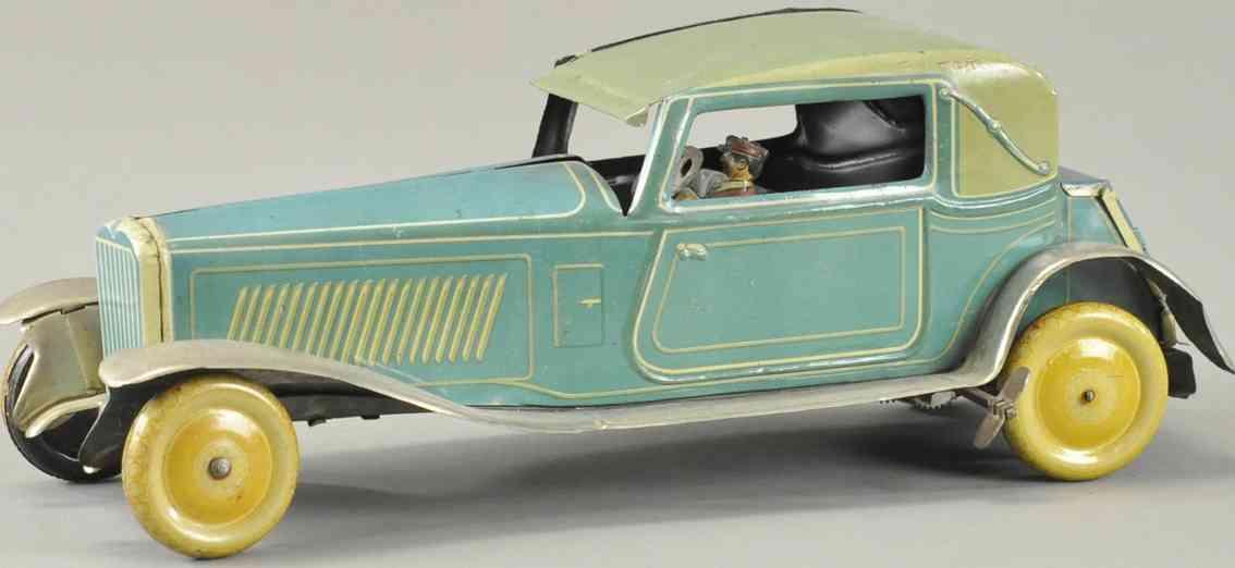 mettoy blech spielzeug auto coupe uhrwerk gelb blau grau hh 73577
