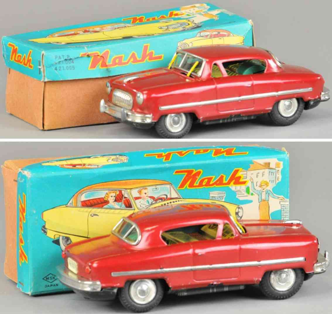 miyazawa mokei co tin toy car nash statesman custom red