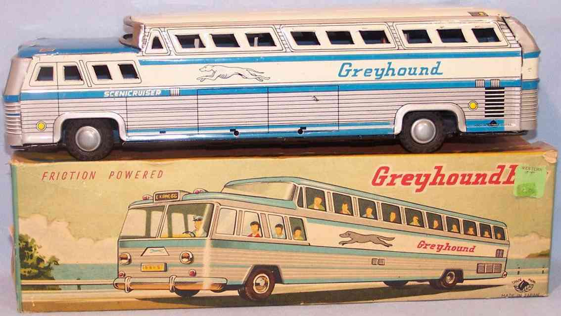 momoya shoten tin toy greyhound bus scenicuriser