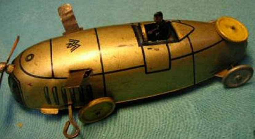 moko moses & kohnstamm tin toy race racing car with clockwork