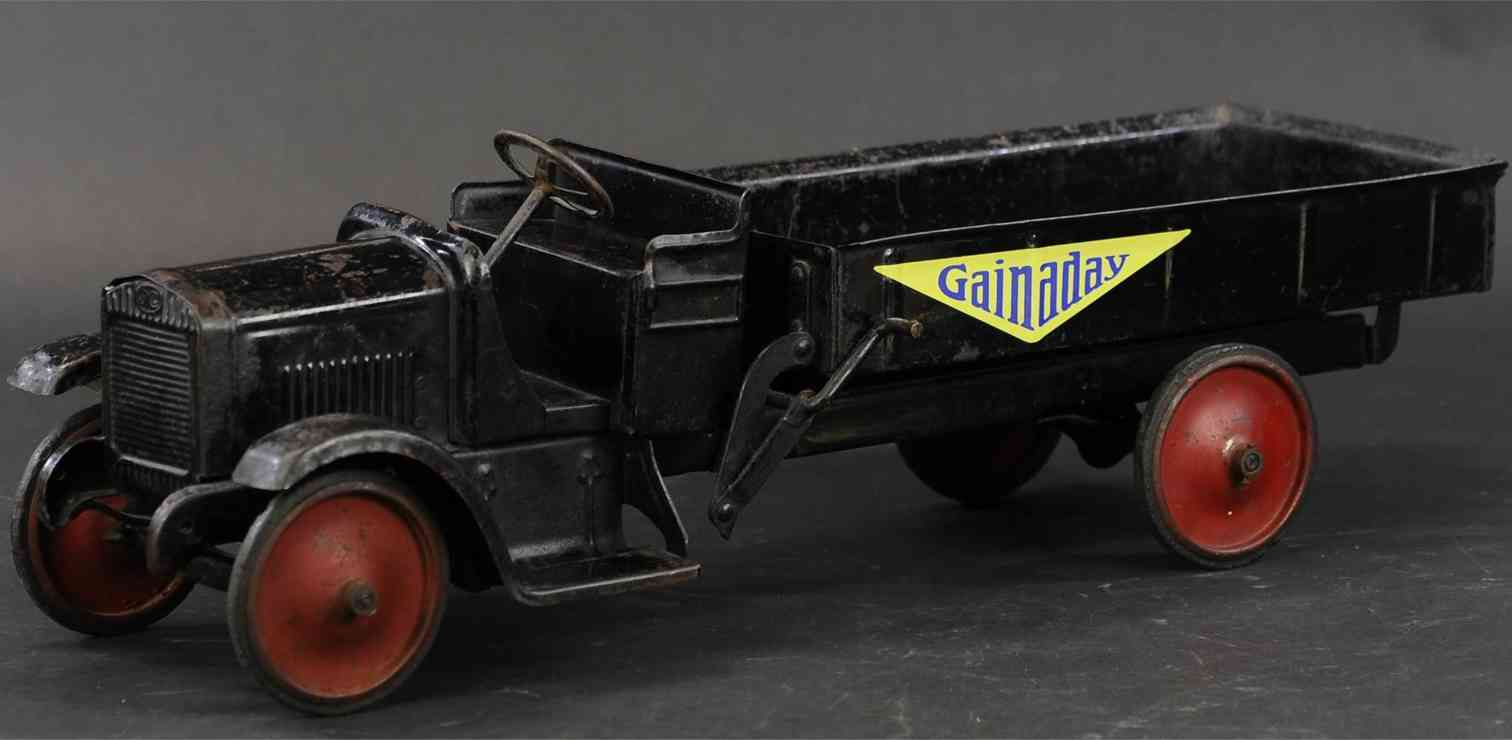 murray blech spielzeug lastwagen gmc offener muldenkipper schwarz
